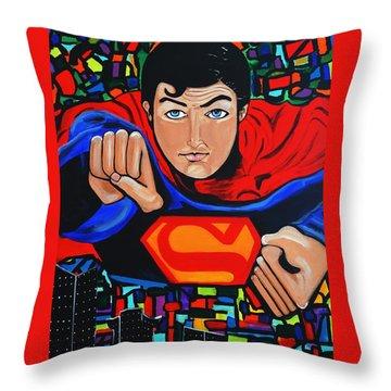 Art Deco  Superman Throw Pillow