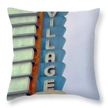 Throw Pillow featuring the photograph Art Deco Village by Matthew Bamberg