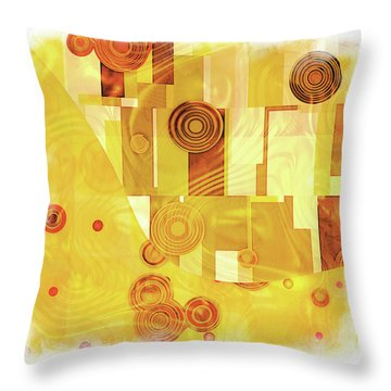 Art Deco Yellow Throw Pillow