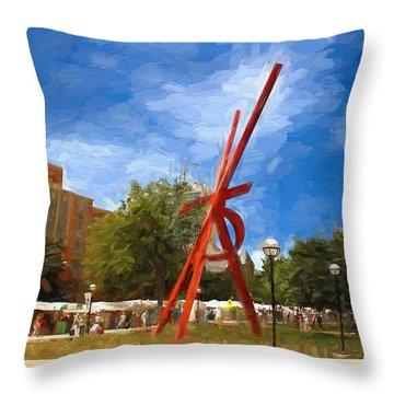 Art Fair Painting Throw Pillow