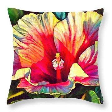 Art Floral Interior Design On Canvas Throw Pillow
