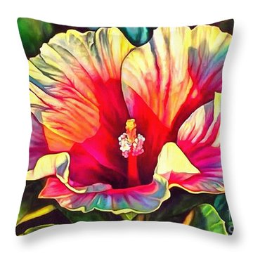 Art Floral Interior Design On Canvas Throw Pillow