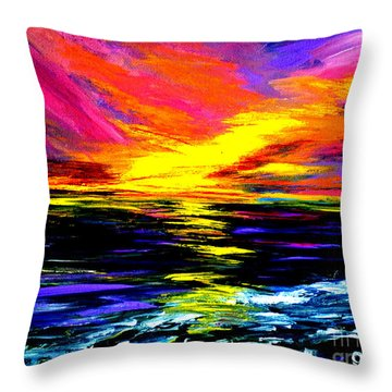 Art For Health And Life. Painting 8. Splendid Throw Pillow