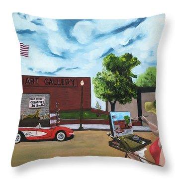 Art Gal 2 Throw Pillow
