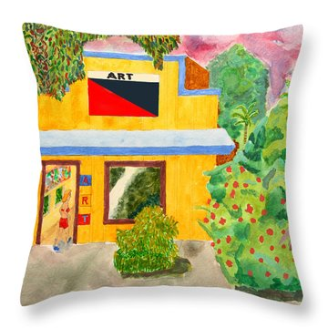 Art Gallery Throw Pillow