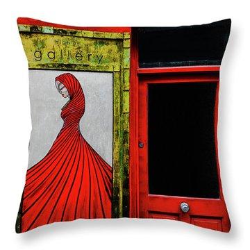 Art Gallery Shop Front Throw Pillow