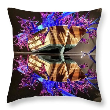 Art Glass Reflection By Chihuly Throw Pillow