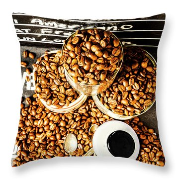 Art In Commercial Coffee Throw Pillow