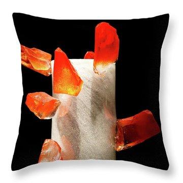 Art In Glass Throw Pillow