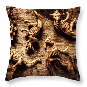 Art In Palaeontology Throw Pillow