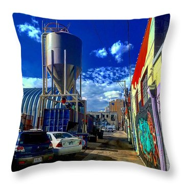 Art In The Alley Throw Pillow