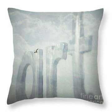 Art In The Clouds Throw Pillow
