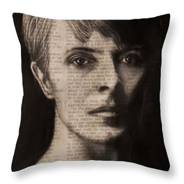 Art In The News 78-bowie Throw Pillow