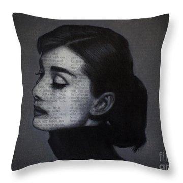 Art In The News 98-audrey Hepburn Throw Pillow