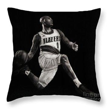 Art In The News- Lillard Throw Pillow