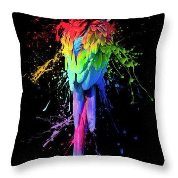 Art Interrupted Throw Pillow by Janet Fikar