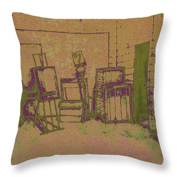 Art Intro Mixed Media Throw Pillow by Hye Ja Billie