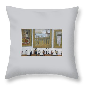 Throw Pillow featuring the painting Art Is Long, Life Is Short by Glenn Quist