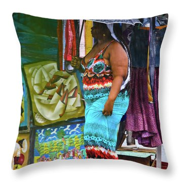 Art Lover Throw Pillow
