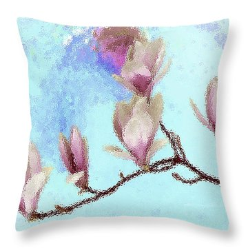 Art Magnolia Throw Pillow