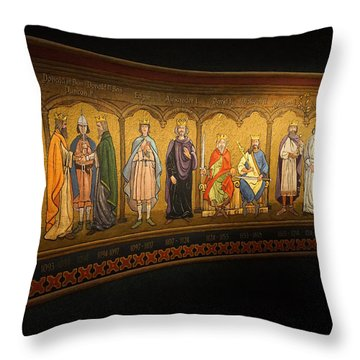 Throw Pillow featuring the photograph Art Mural by Jeremy Lavender Photography