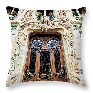 Art Nouveau Doors - Paris, France Throw Pillow by Melanie Alexandra Price