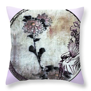 Art Nouveau Woman  Throw Pillow