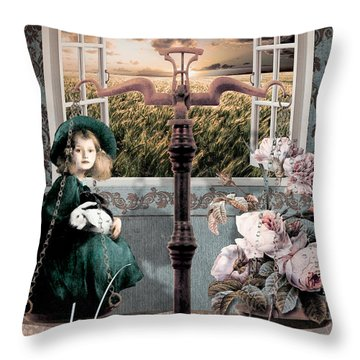 Art Nouveau Zodiac Libra Throw Pillow