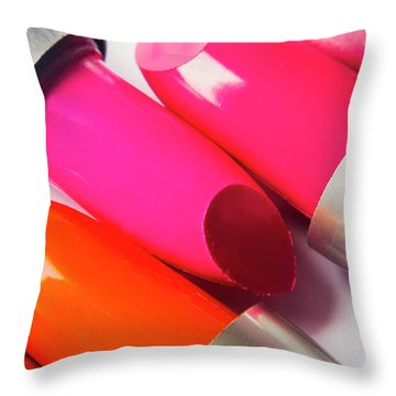 Art Of Beauty Products Throw Pillow
