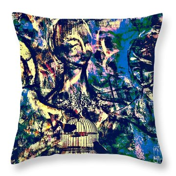 Art Of Connections Throw Pillow