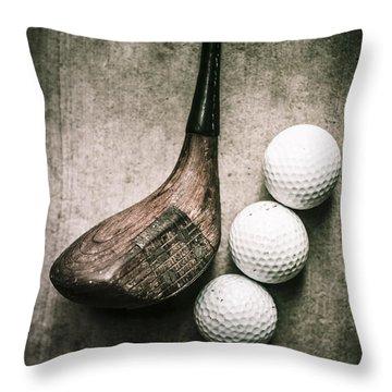 Art Of Golfing Throw Pillow