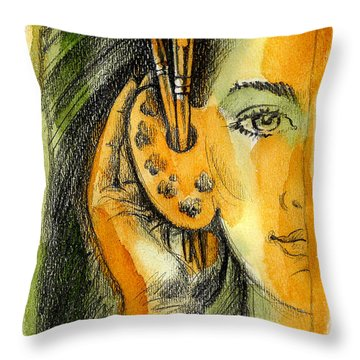 Art Of Listening Throw Pillow