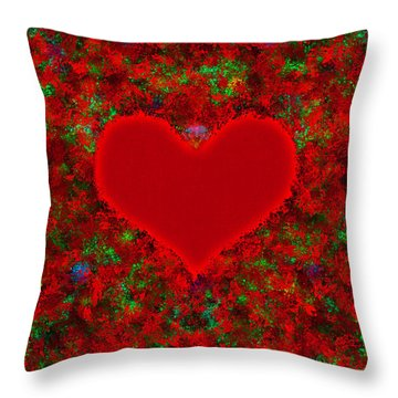 Art Of The Heart 2 Throw Pillow