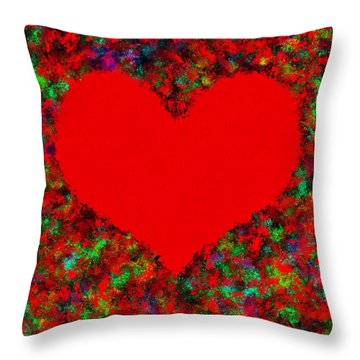 Art Of The Heart Throw Pillow