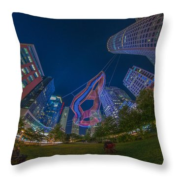 Art On The Greenway 2 Throw Pillow