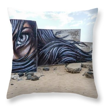 Art Or Graffiti Throw Pillow