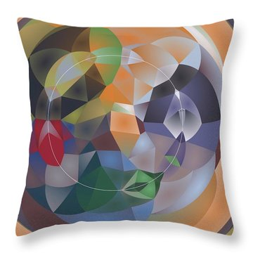 Throw Pillow featuring the digital art Art Pattern  By Nico Bielow by Nico Bielow