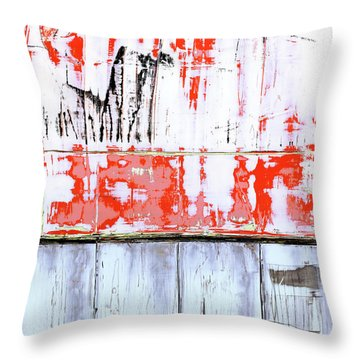 Throw Pillow featuring the painting Art Print Abstract 91 by Harry Gruenert