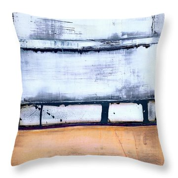 Throw Pillow featuring the painting Art Print Abstract 95 by Harry Gruenert