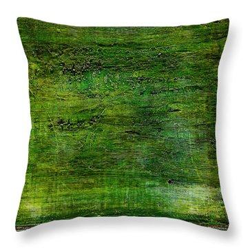 Art Print Green White Throw Pillow