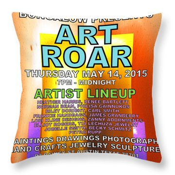 Art Roar May 2015 Throw Pillow