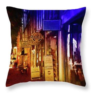 Art Row - Fredericksburg, Virginia Throw Pillow
