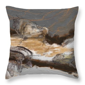 Art Rupestre Throw Pillow