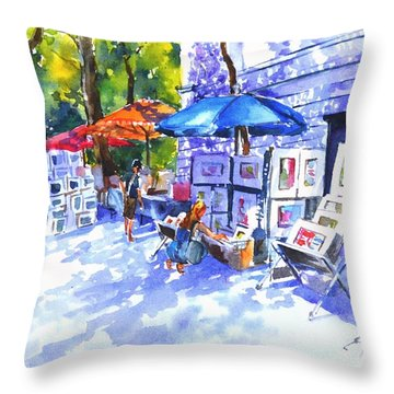 Art Sale Throw Pillow