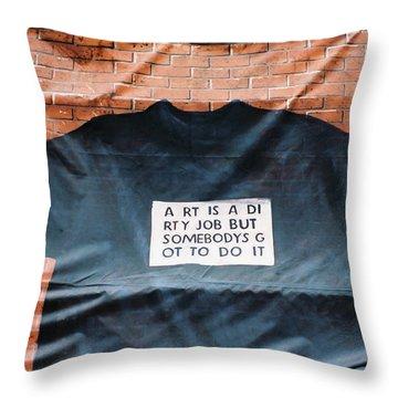 Art Shirt Throw Pillow