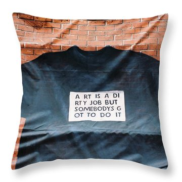 Art Shirt Throw Pillow