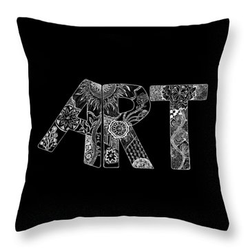 Art Within Art Throw Pillow by Samantha Thome