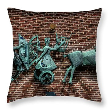 Art Work In Ystad, Sweden Throw Pillow