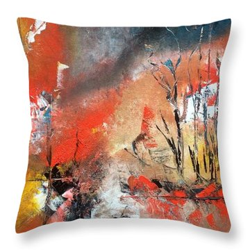 Throw Pillow featuring the painting Art Work by Sheila Mcdonald