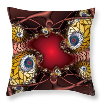 Throw Pillow featuring the digital art Artdeco by Karin Kuhlmann